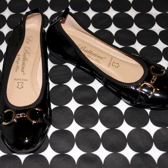 La Ballerina Black Patent Leather Ballet Flats 5.5